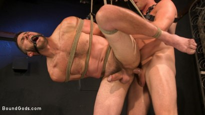 Photo number 24 from Well Hung Fuck Toys: Giant Dicks Dominate Tight Holes shot for Bound Gods on Kink.com. Featuring Colby Jansen, Casey Everett, Devin Trez, Jeremy Spreadums, Ace Rockwood, Seamus O'Reilly, Pierce Paris, Vander Pulaski, Michael DelRay and Nic Sahara in hardcore BDSM & Fetish porn.