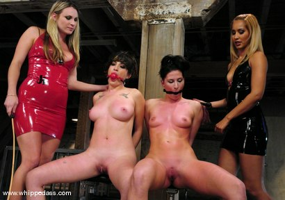 Photo number 2 from Live Show Revisited shot for Whipped Ass on Kink.com. Featuring Harmony, Stacey Stax, Ariel X and Isis Love in hardcore BDSM & Fetish porn.