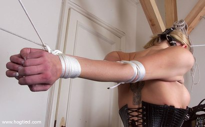 Photo number 2 from Rhannion shot for Hogtied on Kink.com. Featuring Rhannion in hardcore BDSM & Fetish porn.