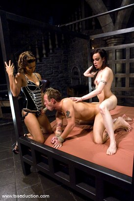 Photo number 9 from THE LIVE SHOOT shot for TS Seduction on Kink.com. Featuring La Cherry Spice, Isis Love and Billy in hardcore BDSM & Fetish porn.