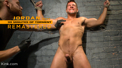 Straight Hunk Jordan Boss Mercilessly Beaten and Made to Cum