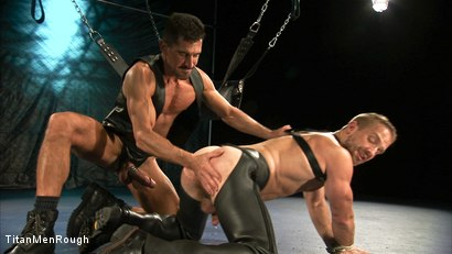 Photo number 2 from VIOLATED: David Anthony and Dirk Caber shot for TitanMen Rough on Kink.com. Featuring Dirk Caber and David Anthony in hardcore BDSM & Fetish porn.