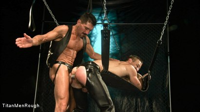Photo number 8 from VIOLATED: David Anthony and Dirk Caber shot for TitanMen Rough on Kink.com. Featuring Dirk Caber and David Anthony in hardcore BDSM & Fetish porn.