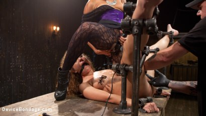 Photo number 14 from FLOOD: Submissive Women Bound in Metal and Made to Squirt shot for Device Bondage on Kink.com. Featuring Bonnie Rotten, Daisy Ducati, Roxanne Rae, Janice Griffith, Lilly Lit and Ashley Lane in hardcore BDSM & Fetish porn.
