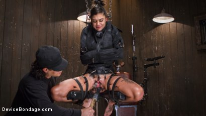 Photo number 2 from FLOOD: Submissive Women Bound in Metal and Made to Squirt shot for Device Bondage on Kink.com. Featuring Bonnie Rotten, Daisy Ducati, Roxanne Rae, Janice Griffith, Lilly Lit and Ashley Lane in hardcore BDSM & Fetish porn.