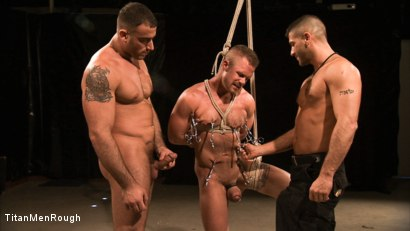 Cullen Cable gets Bound Flogged & Fucked by Spencer Reed and Tony Buff