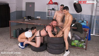 Naked Mechanic Gets Used & Pissed On By Co-Workers RAW
