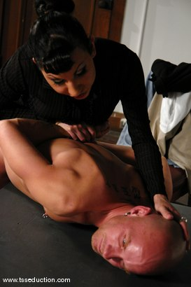 Photo number 3 from Chad Rock and Ariel Everitts shot for TS Seduction on Kink.com. Featuring Ariel Everitts and Chad Rock in hardcore BDSM & Fetish porn.