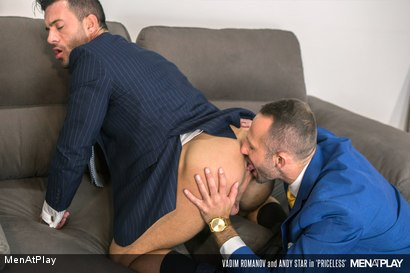 Photo number 4 from PRICELESS: Andy Star & Vadim Romanov shot for Men At Play on Kink.com. Featuring Andy Star and Vadim Romanof in hardcore BDSM & Fetish porn.