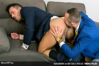 Photo number 8 from PRICELESS: Andy Star & Vadim Romanov shot for Men At Play on Kink.com. Featuring Andy Star and Vadim Romanof in hardcore BDSM & Fetish porn.