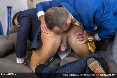 Photo number 13 from PRICELESS: Andy Star & Vadim Romanov shot for Men At Play on Kink.com. Featuring Andy Star and Vadim Romanof in hardcore BDSM & Fetish porn.