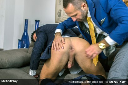 Photo number 15 from PRICELESS: Andy Star & Vadim Romanov shot for Men At Play on Kink.com. Featuring Andy Star and Vadim Romanof in hardcore BDSM & Fetish porn.