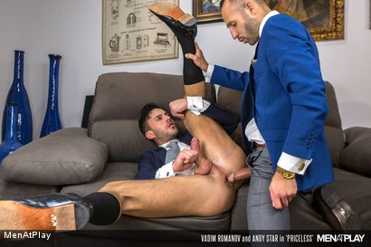Photo number 2 from PRICELESS: Andy Star & Vadim Romanov shot for Men At Play on Kink.com. Featuring Andy Star and Vadim Romanof in hardcore BDSM & Fetish porn.