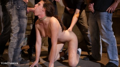 Photo number 5 from Casey Calvert Lives out her Gangbang Fantasy! First Gangbang,First Dp! shot for Kink Classics on Kink.com. Featuring Casey Calvert , John Strong, Mark Davis, Bill Bailey, Astral Dust and Alex Gonz in hardcore BDSM & Fetish porn.