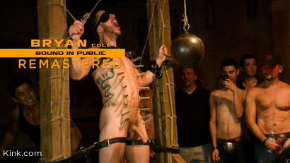 Bryan Cole: Hot Stud Is Tied Up and Fucked in Front of 100 Horny Men