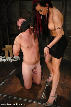 Photo number 5 from La Cherry Spice and Devin shot for TS Seduction on Kink.com. Featuring La Cherry Spice and Devin in hardcore BDSM & Fetish porn.