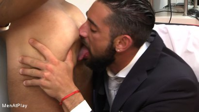 Photo number 12 from WHITE LIE: Massimo Piano and Robbie Rojo shot for Men At Play on Kink.com. Featuring Massimo Piano and Robbie Rojo in hardcore BDSM & Fetish porn.
