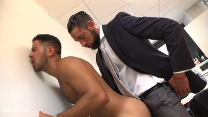 Photo number 14 from WHITE LIE: Massimo Piano and Robbie Rojo shot for Men At Play on Kink.com. Featuring Massimo Piano and Robbie Rojo in hardcore BDSM & Fetish porn.