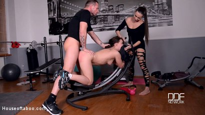 Mouth Wash Mondays - Threesome With Golden Shower At The Gym