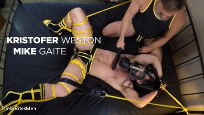 Kristofer Weston Ties Up Mike Gaite and Torments His Hairy Hole