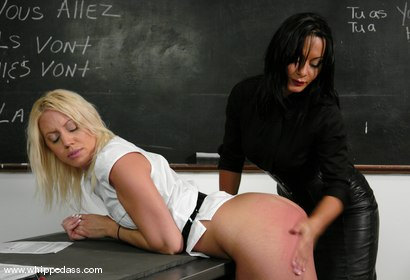 Photo number 5 from Desperate Student shot for Whipped Ass on Kink.com. Featuring Sandra Romain and Kacey Villainess in hardcore BDSM & Fetish porn.