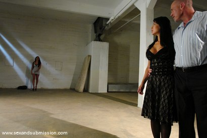 Photo number 2 from The Anniversary shot for Sex And Submission on Kink.com. Featuring Eva Angelina, Gianna Lynn and Mark Davis in hardcore BDSM & Fetish porn.