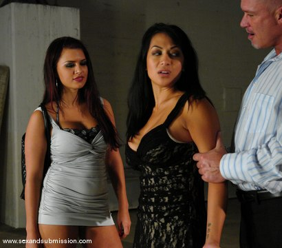 Photo number 3 from The Anniversary shot for Sex And Submission on Kink.com. Featuring Eva Angelina, Gianna Lynn and Mark Davis in hardcore BDSM & Fetish porn.