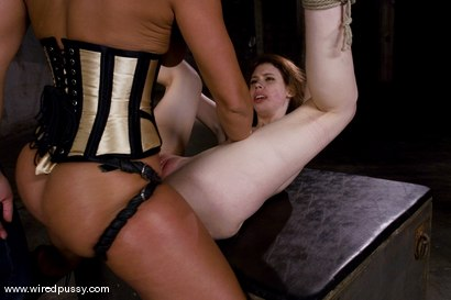 Photo number 14 from Kristine and Sandra Romain shot for Wired Pussy on Kink.com. Featuring Sandra Romain and Kristine in hardcore BDSM & Fetish porn.