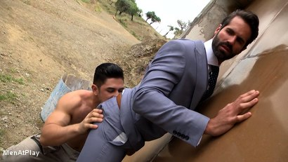 Photo number 6 from BLUEPRINT: Dani Robles and Dato Foland shot for Men At Play on Kink.com. Featuring Dato Foland and Dani Robles in hardcore BDSM & Fetish porn.