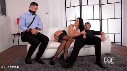 The Bound Cuckold - A Horny Wife's Deep Throat Affaire