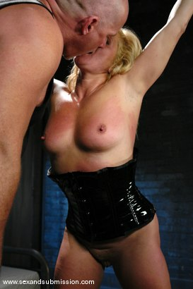Photo number 8 from The Submission of Ginger Lynn shot for Sex And Submission on Kink.com. Featuring Mark Davis and Ginger Lynn in hardcore BDSM & Fetish porn.
