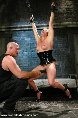 Photo number 9 from The Submission of Ginger Lynn shot for Sex And Submission on Kink.com. Featuring Mark Davis and Ginger Lynn in hardcore BDSM & Fetish porn.