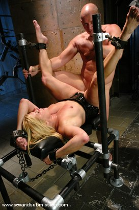 Photo number 13 from The Submission of Ginger Lynn shot for Sex And Submission on Kink.com. Featuring Mark Davis and Ginger Lynn in hardcore BDSM & Fetish porn.