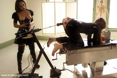 Photo number 13 from Sandra's Latex Slave shot for Wired Pussy on Kink.com. Featuring Sandra Romain and Devaun in hardcore BDSM & Fetish porn.