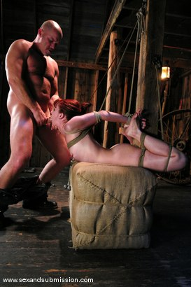 Photo number 8 from Trinity is amazing in first time boy/girl bondage sex. shot for Sex And Submission on Kink.com. Featuring Mark Davis and Trinity Post in hardcore BDSM & Fetish porn.