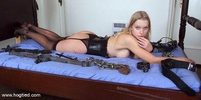 Photo number 1 from Rhannion shot for Hogtied on Kink.com. Featuring Rhannion in hardcore BDSM & Fetish porn.