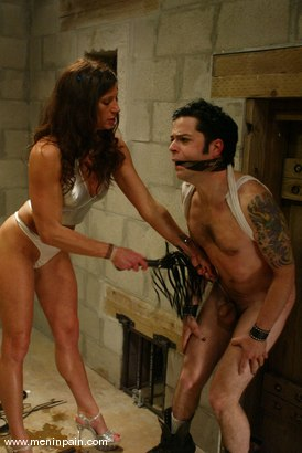 Photo number 9 from Brandon and Kym Wilde shot for Men In Pain on Kink.com. Featuring Brandon and Kym Wilde in hardcore BDSM & Fetish porn.