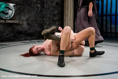 "Photo number 1 from Bobbie Starr ""The Killer"" (4-1) <br>vs<br>Smokie Flame ""The Phoenix"" (0-0) shot for Ultimate Surrender on Kink.com. Featuring Smokie Flame and Bobbi Starr in hardcore BDSM & Fetish porn."