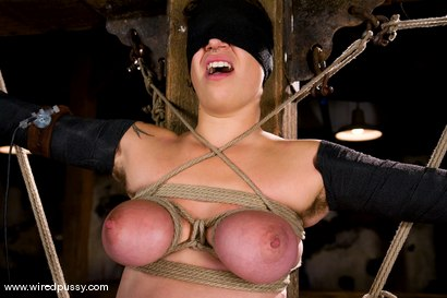 Photo number 15 from Amateur gets her big tits tied and shocked for the FIRST TIME ever! shot for Wired Pussy on Kink.com. Featuring Sandra Romain and Saffron in hardcore BDSM & Fetish porn.