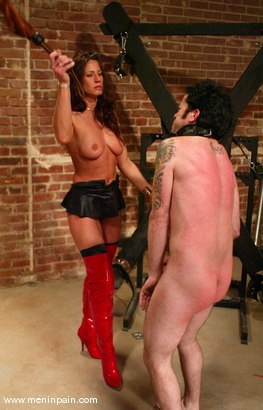 Photo number 5 from Brandon and Kym Wilde shot for Men In Pain on Kink.com. Featuring Brandon and Kym Wilde in hardcore BDSM & Fetish porn.