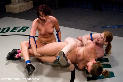 Photo number 9 from BONUS UPDATE<BR> This tag team match up was just to rough for one veteran. shot for Ultimate Surrender on Kink.com. Featuring Dana DeArmond, Madison Young, Ariel X and Nikki Nievez in hardcore BDSM & Fetish porn.