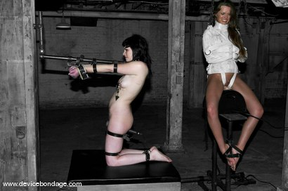 Photo number 14 from Devaun and Andy San Dimas Live, Part 2 shot for Device Bondage on Kink.com. Featuring Andy San Dimas and Devaun in hardcore BDSM & Fetish porn.