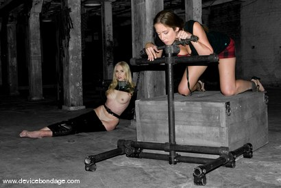 Photo number 2 from Jade Marxxx Live, Part 1 shot for Device Bondage on Kink.com. Featuring Jade Marxxx, Sarah Jane Ceylon and Claire Adams in hardcore BDSM & Fetish porn.