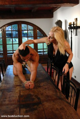 Photo number 2 from Mel Voguel and Poax Lenehan shot for TS Seduction on Kink.com. Featuring Mel Voguel and Poax Lenehan in hardcore BDSM & Fetish porn.
