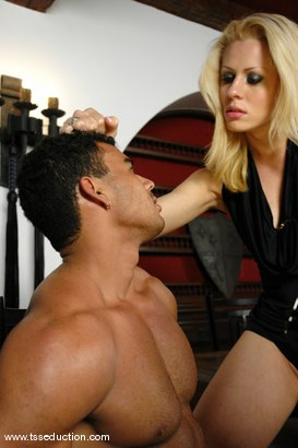 Photo number 6 from Mel Voguel and Poax Lenehan shot for TS Seduction on Kink.com. Featuring Mel Voguel and Poax Lenehan in hardcore BDSM & Fetish porn.