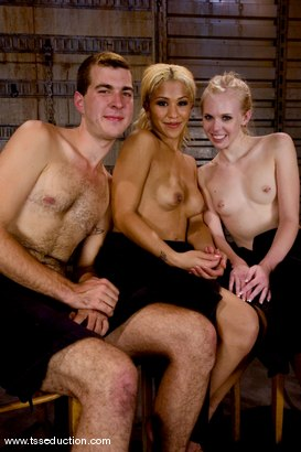 Photo number 14 from Roman Stax, Sarah Jane Ceylon and Jessica Host shot for TS Seduction on Kink.com. Featuring Jessica Host, Sarah Jane Ceylon and Roman Stax in hardcore BDSM & Fetish porn.