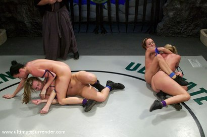 Photo number 4 from TAG TEAM  <BR>The Assassin & The Terminator<br> vs <br> The Brawler & The Tigress shot for Ultimate Surrender on Kink.com. Featuring Ariel X, Sara Faye, Kylie Worthy and Harmony in hardcore BDSM & Fetish porn.