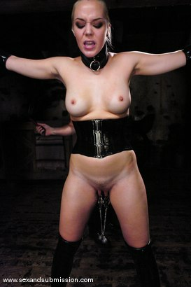 Photo number 4 from Annette Schwarz shot for sexandsubmission on Kink.com. Featuring Mark Davis and Annette Schwarz in hardcore BDSM & Fetish porn.