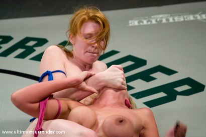 """Photo number 7 from Kylie Worthy """"The Terminator"""" (0-0) <br>vs<br>Madison Young """"The Butcher"""" (1-0) shot for Ultimate Surrender on Kink.com. Featuring Madison Young and Kylie Worthy in hardcore BDSM & Fetish porn."""