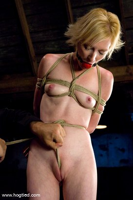 Photo number 7 from Alexa Lynn's cute shaved pussy is put<br> though crotch rope hell in this pussy torturing update. shot for Hogtied on Kink.com. Featuring Sgt. Major and Alexa Lynn in hardcore BDSM & Fetish porn.